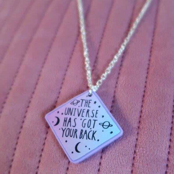 the universe has got your back necklace