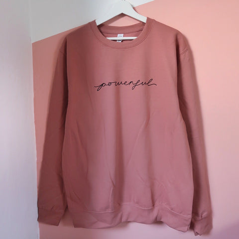 powerful sweatshirt - dusky pink