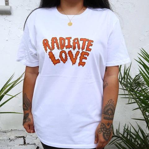 radiate love organic t-shirt - white