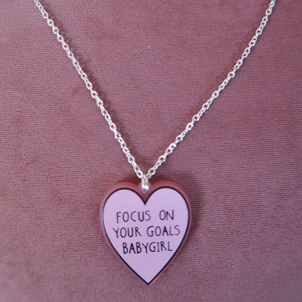 focus on your goals babygirl necklace - 2 options