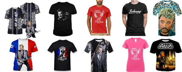 Johnny Hallyday T-shirt collection