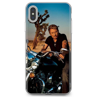 Coque iPhone Johnny Hallyday moto