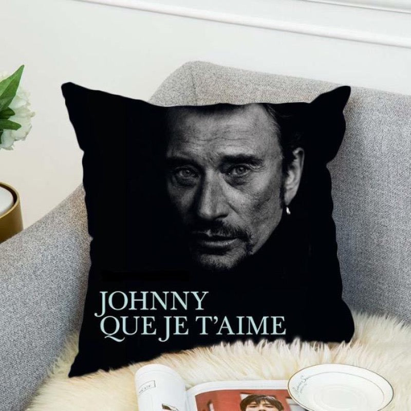 Coussin Johnny Hallyday Que Je T'Aime