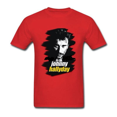 t-shirt collector Johnny Hallyday rouge