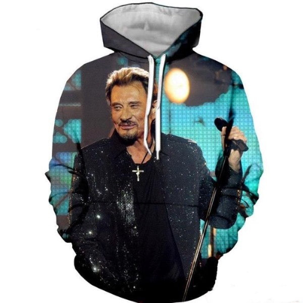 pull sweat Johnny Hallyday