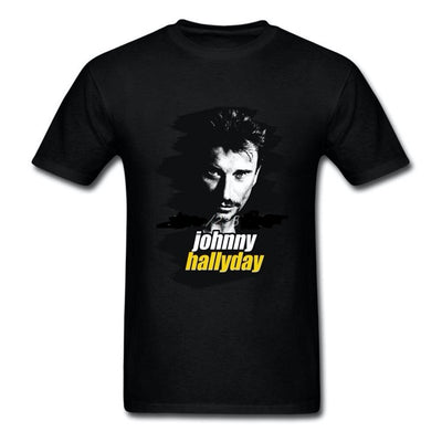 t-shirt collector Johnny Hallyday noir