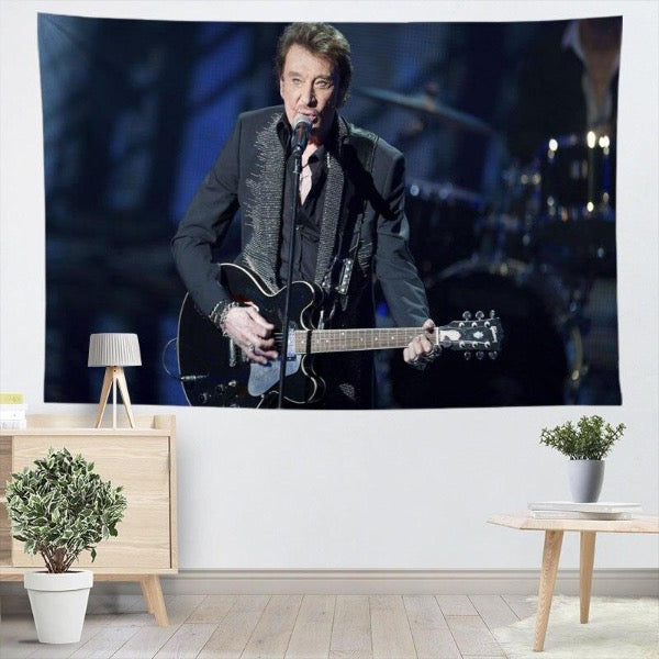 Tapis mural Hommage Johnny Hallyday