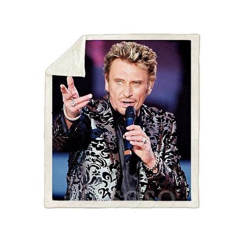 Drap Johnny Hallyday symbole du rock