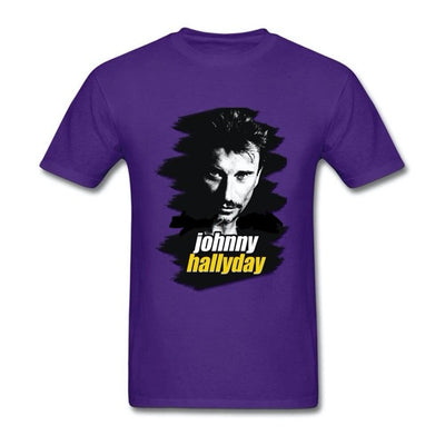 t-shirt collector Johnny Hallyday violet