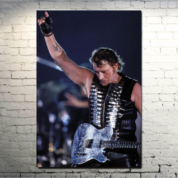 Ancien Poster Johnny Hallyday