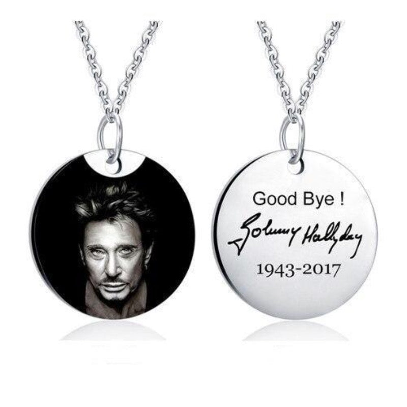 Collier Johnny Hallyday on t'oubli pas