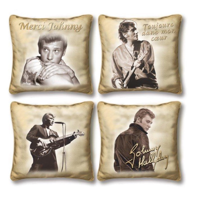 Coussin Johnny Hallyday Hommage