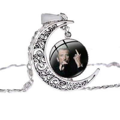 Collier Johnny Hallyday chante