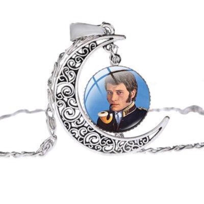 Collier Johnny Hallyday pipe
