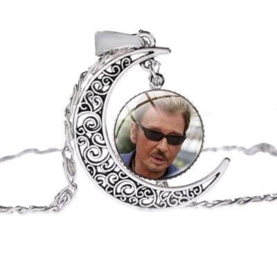 Collier Johnny Hallyday  lunette