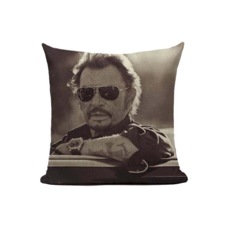 le Coussin Johnny Hallyday personnalise