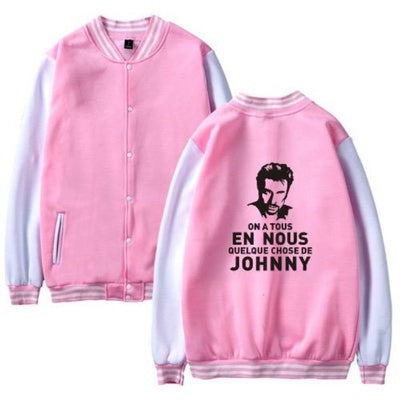 Veste Johnny Hallyday Hommage Rose