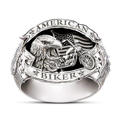 Bague Johnny Hallyday American Biker