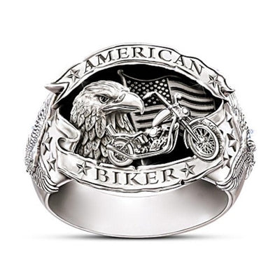 La Bague Johnny Hallyday American Biker