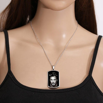 Collier Johnny Hallyday pour Toujours  une légende