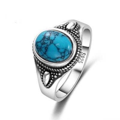 Bague Johnny Hallyday Vie Turquoise