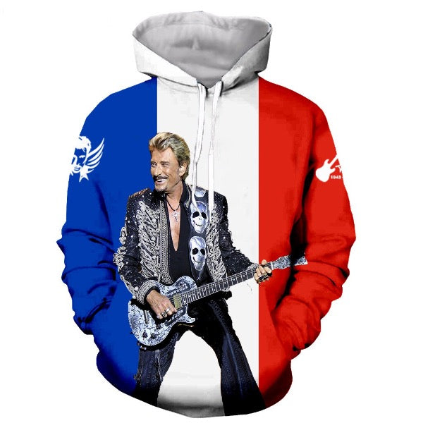 Pull Johnny Hallyday amour du Pays