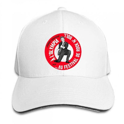 Casquette Johnny Hallyday Olympia Tour blanc