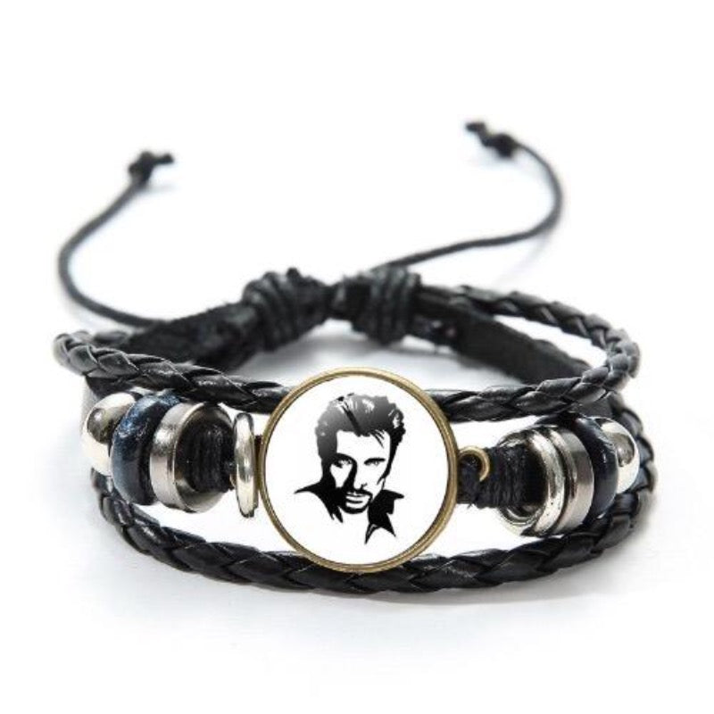 bracelet bague johnny hallyday