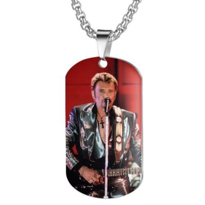 Collier Johnny Hallyday Concert Guitare