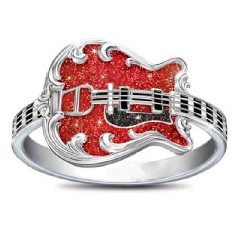 Bague Johnny Hallyday Guitare