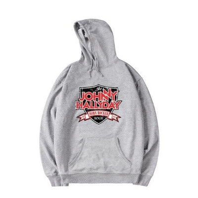 Pull de Johnny Hallyday Born Rocker Tour Gris