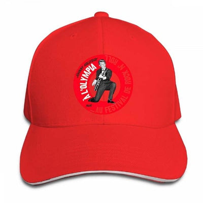 Casquette Johnny Hallyday Olympia Tour rouge