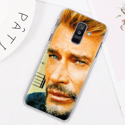 Coque Samsung GALAXY J Johnny Hallyday le boss