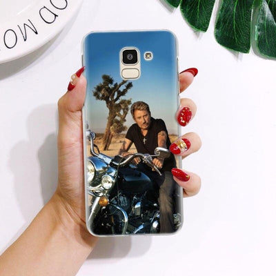 Coque Samsung Johnny Hallyday Galaxy J  nature