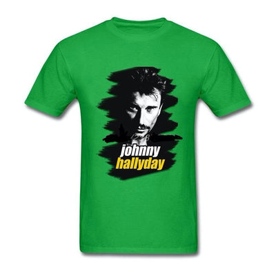 t-shirt collector Johnny Hallyday vert