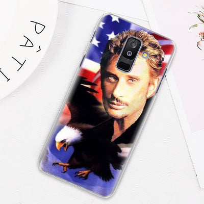 Coque Samsung GALAXY J Johnny Hallyday US