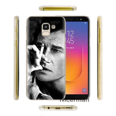Coque Samsung Johnny Hallyday Galaxy J pensif