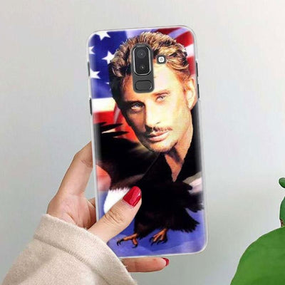 Coque Samsung GALAXY J Johnny Hallyday usa