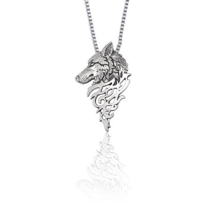 Collier Johnny Hallyday Loup argent