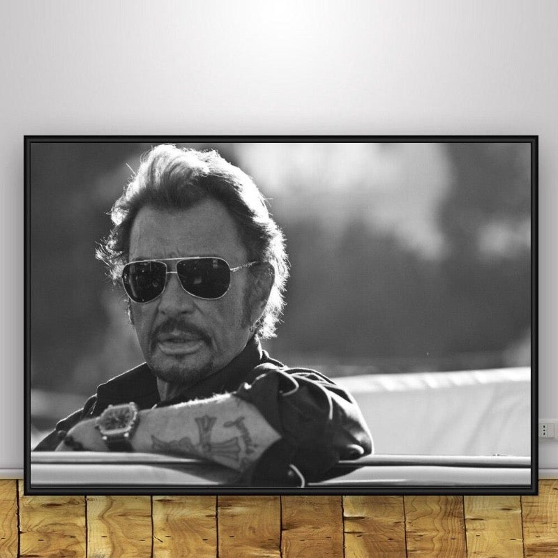 Johnny Hallyday Fan piece Poster
