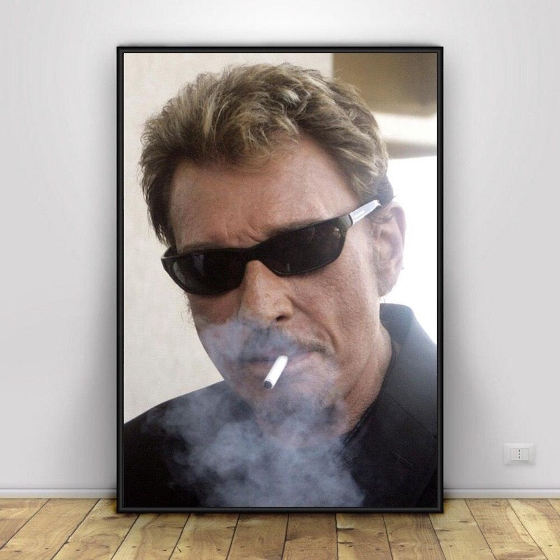 Grand poster Johnny Hallyday