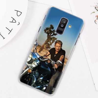 Coque Samsung GALAXY J Johnny Hallyday la moto