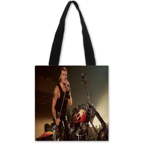 sac à main moto Johnny Hallyday