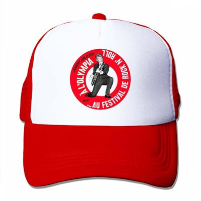 Casquette Johnny Hallyday Olympia rouge