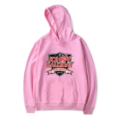 Pull de Johnny Hallyday Born Rocker Tour Rose