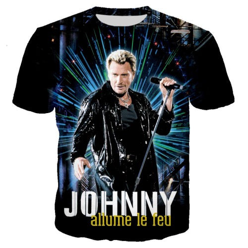 tee-shirt Johnny Hallyday inédit