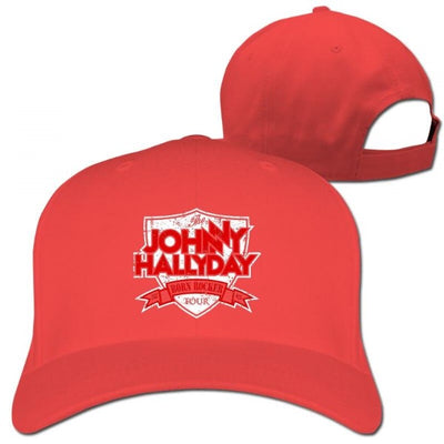 Casquette Johnny Hallyday Collector rouge