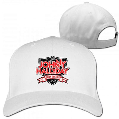 Casquette Johnny Hallyday Collector blanc