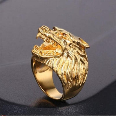 Bague Johnny Hallyday Loup or