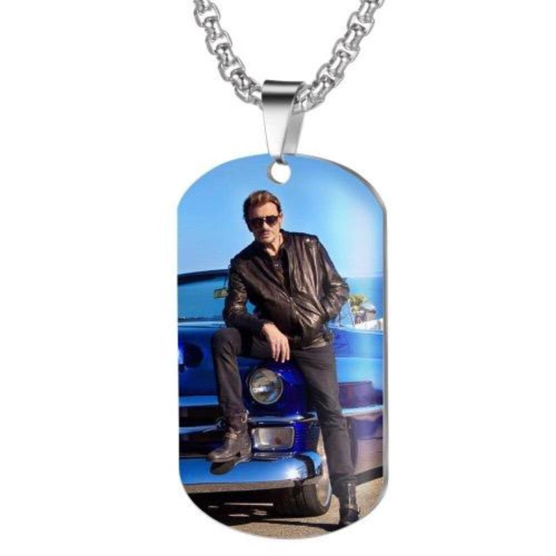 Collier Johnny Hallyday Élégance